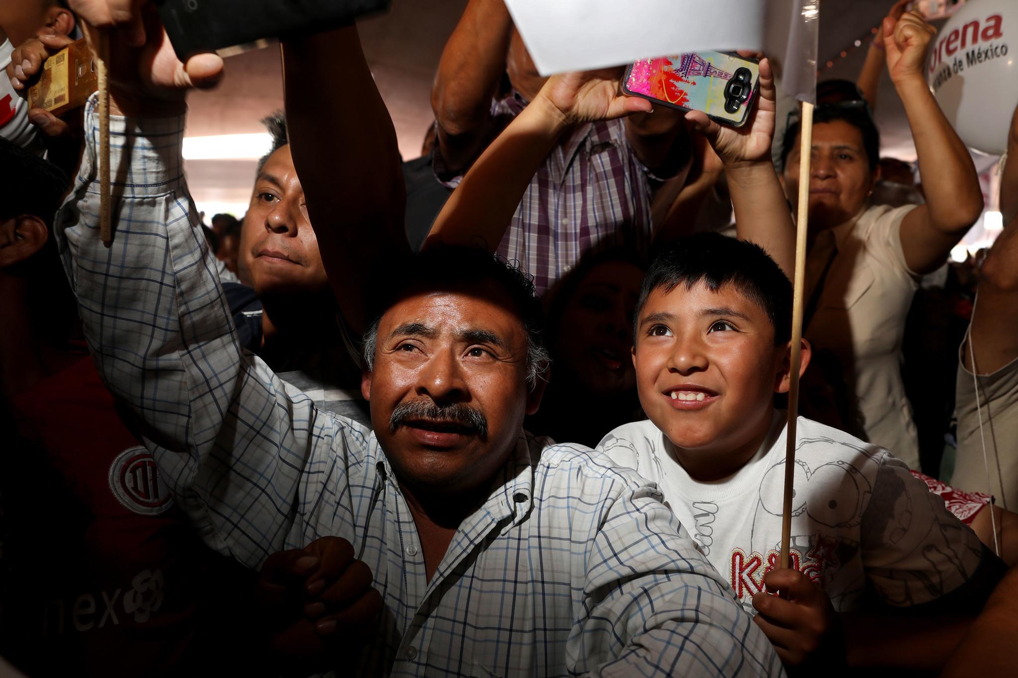 Lopez Obrador supporters