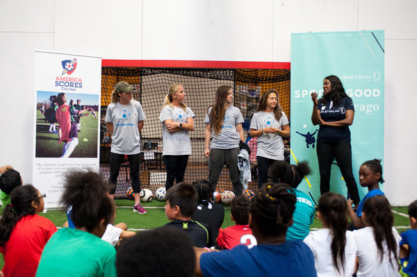 Red Stars, Local Leaders Team up with Laureus USA to Kick-off Sport for Good Chicago
