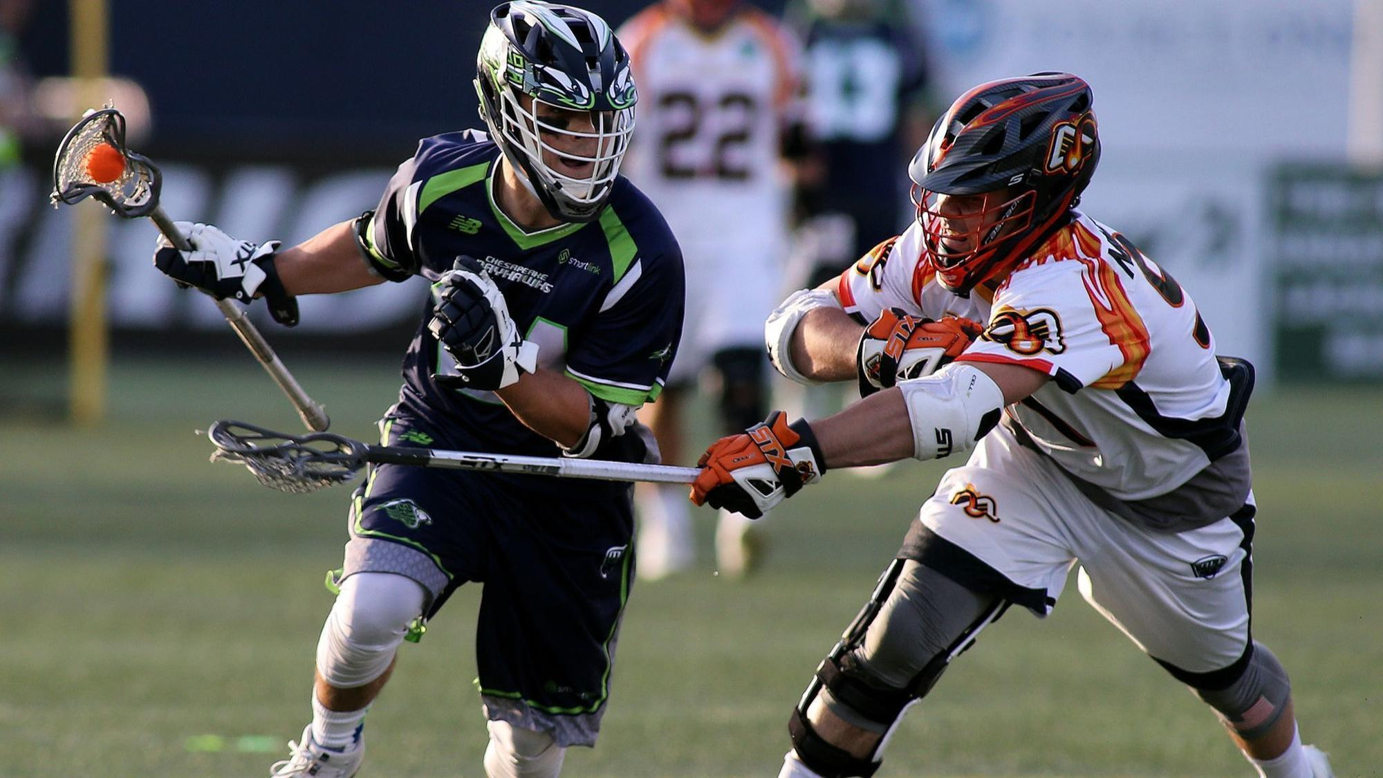 Six Bayhawks participating in MLL All-Stars versus Team USA exhibition