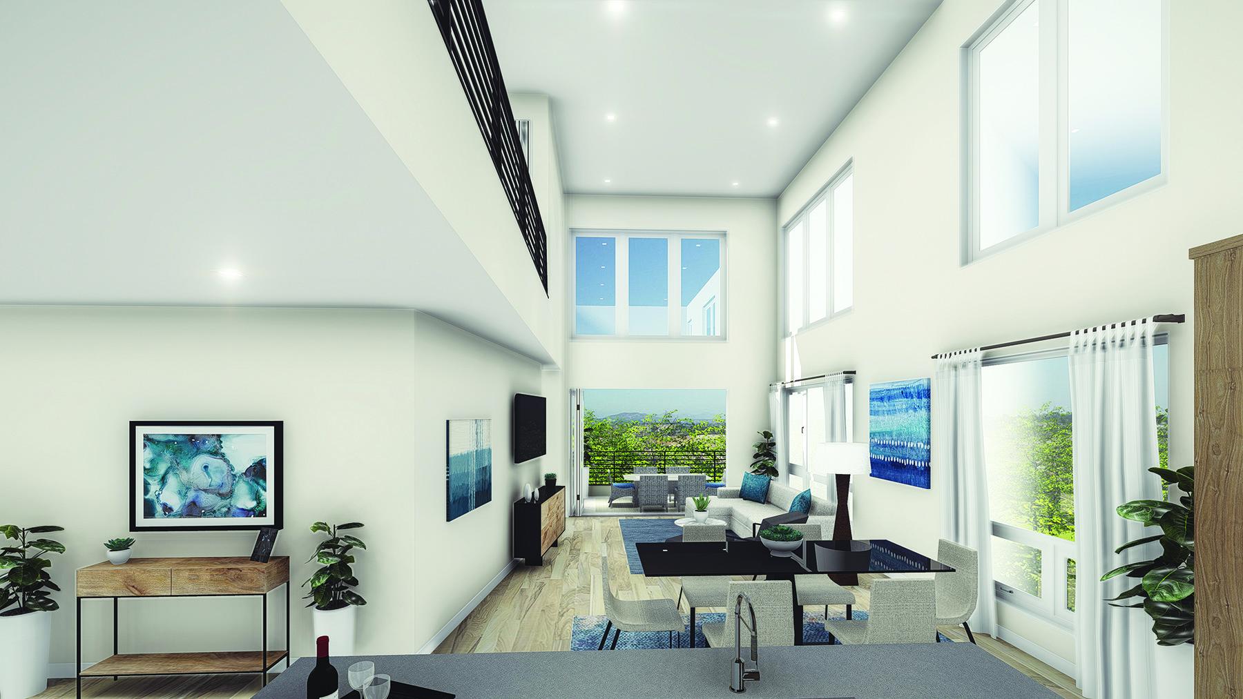elevate living area rendering