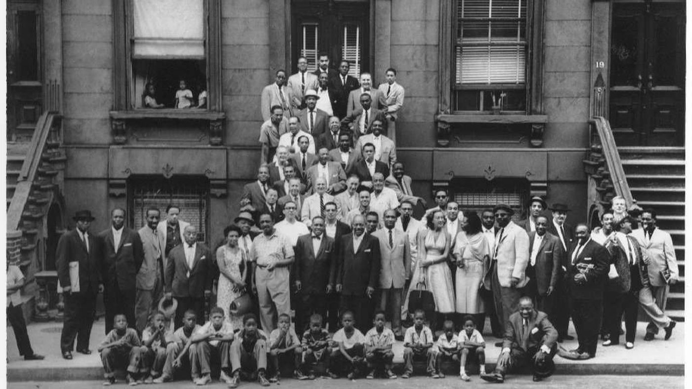 This Esquire magazine photo featuring 57 of the most famous jazz artists in the world was taken in 1958
