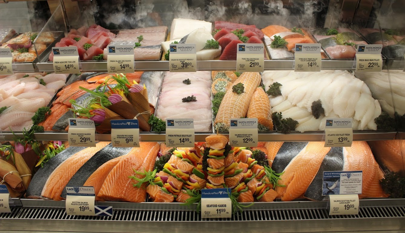 The seafood selection at Pavilions.
