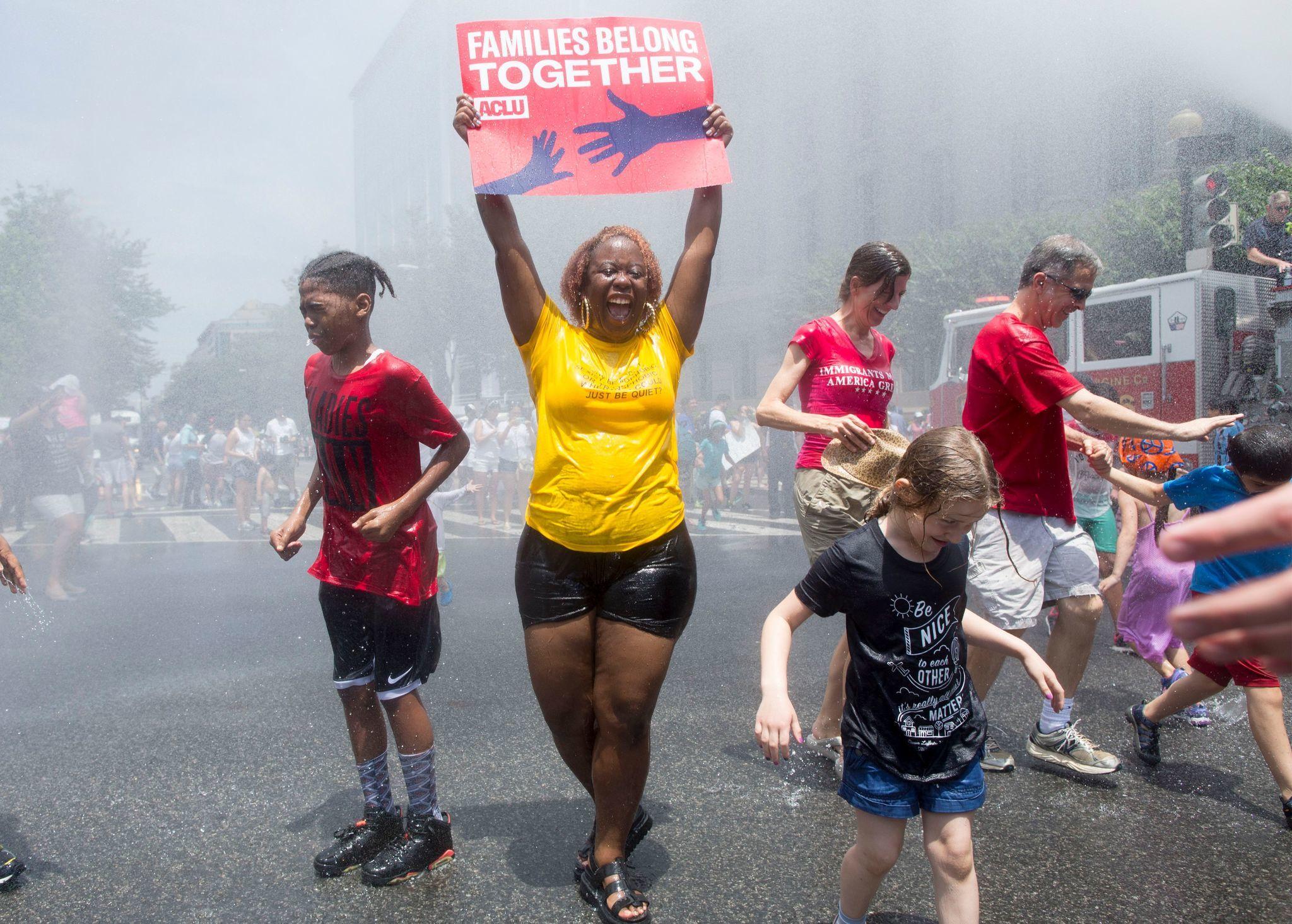 Families Belong Together rally in Washington DC, USA - 30 Jun 2018