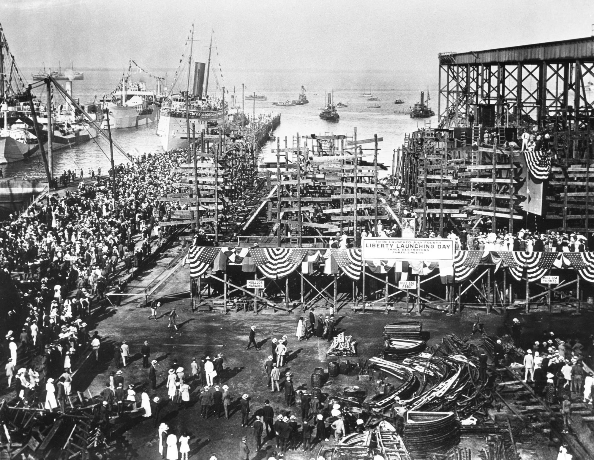 Newport News shipyard's WWI destroyer boom driven by U-boat fears