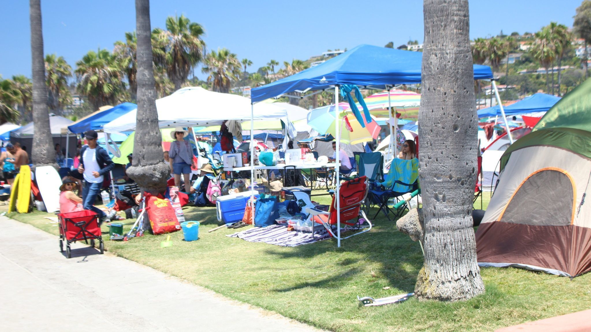 Approximately 200 tents packed Kellogg Park on July 4.