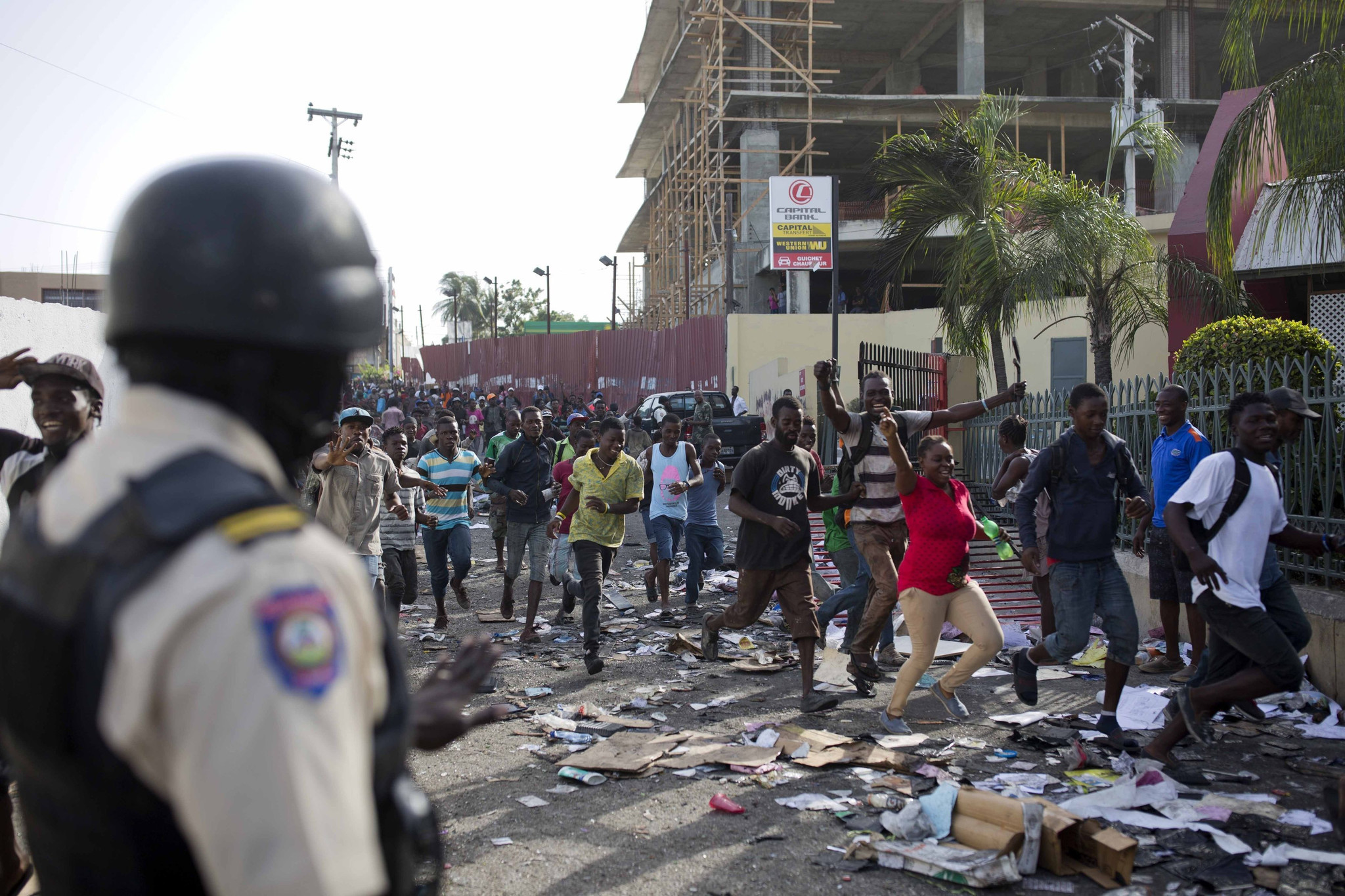 haiti violence over fuel prices strands a number of u s  volunteer groups