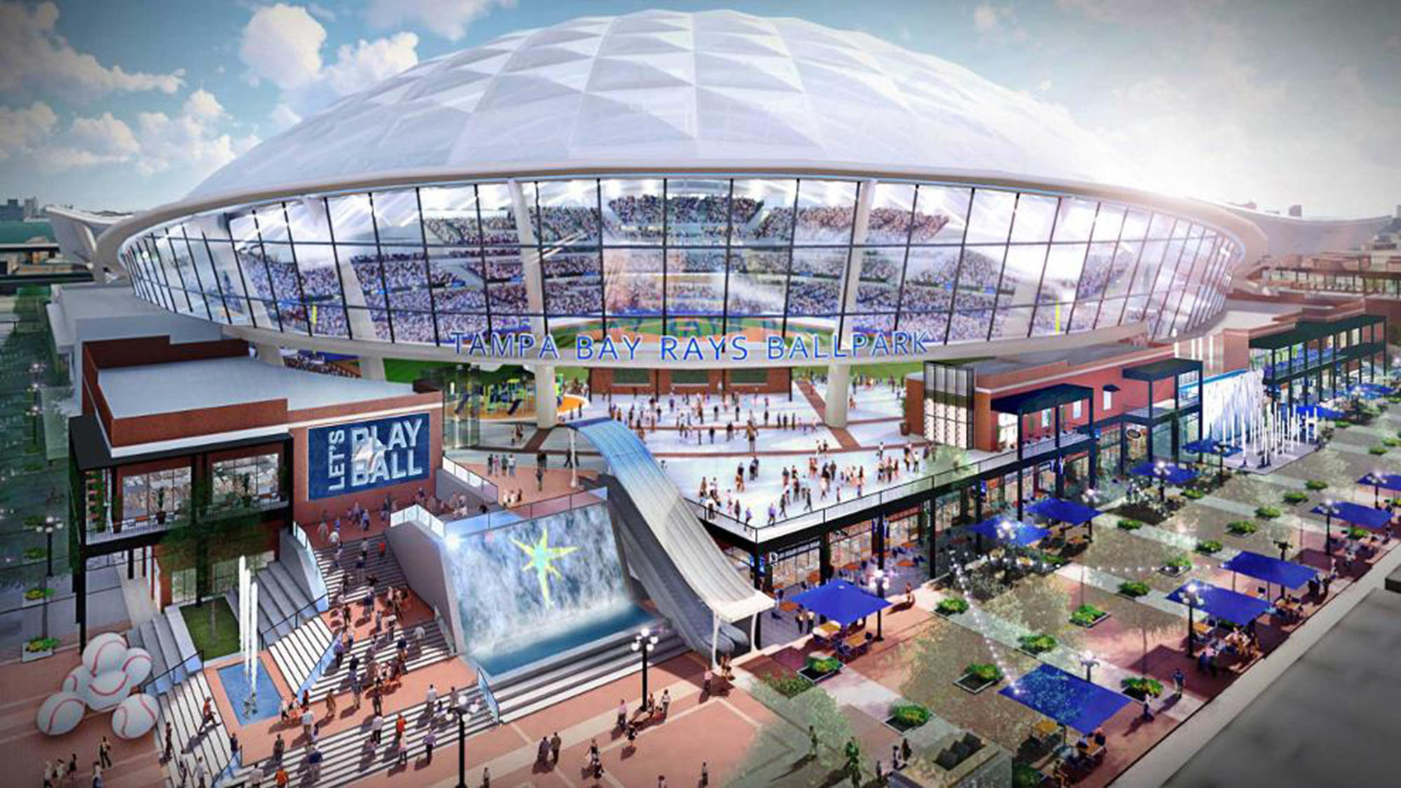 Tampa Bay Rays unveil plans for $900M stadium with ...