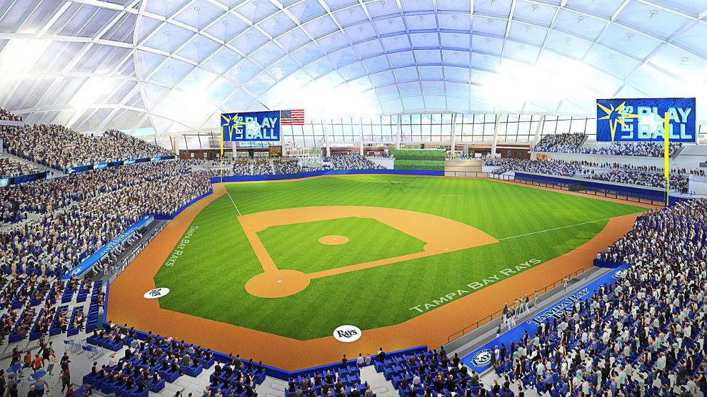 Rays propose a $900M stadium in Tampa with a translucent ...