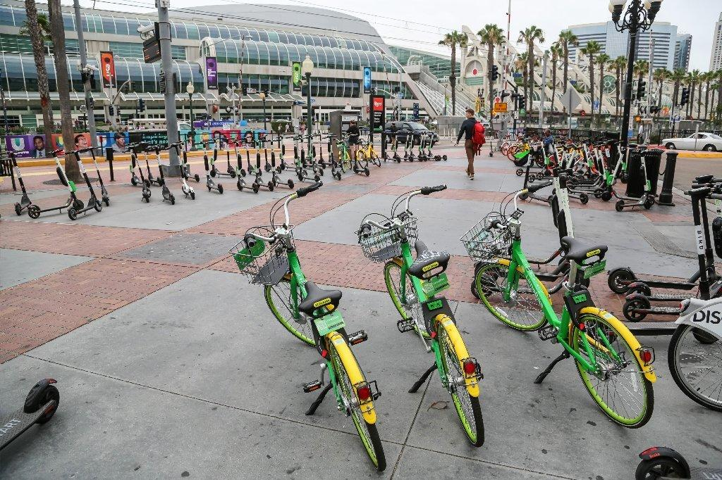 Dockless bikes San Diego Comic-Con