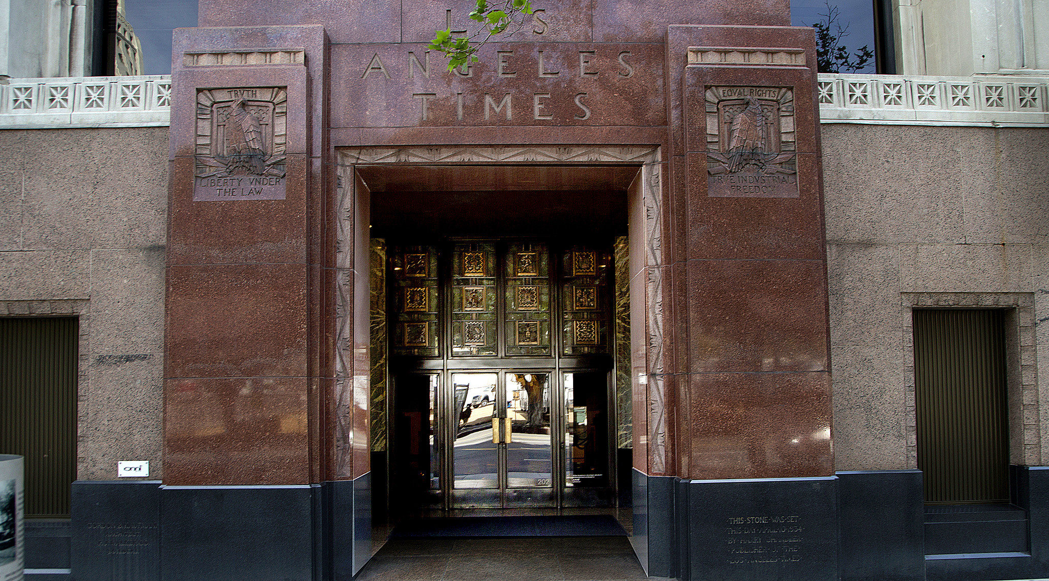 LOS ANGELES, CA., JULY 6, 2018--The Los Angeles Times Building is an art deco building in Times Mirr