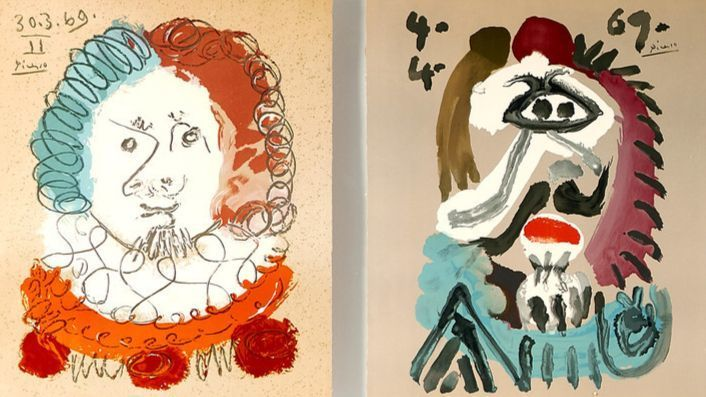 "Five Pablo Picasso lithographs from his ""Imaginary Portraits"" series that once hung in the Los Angel"