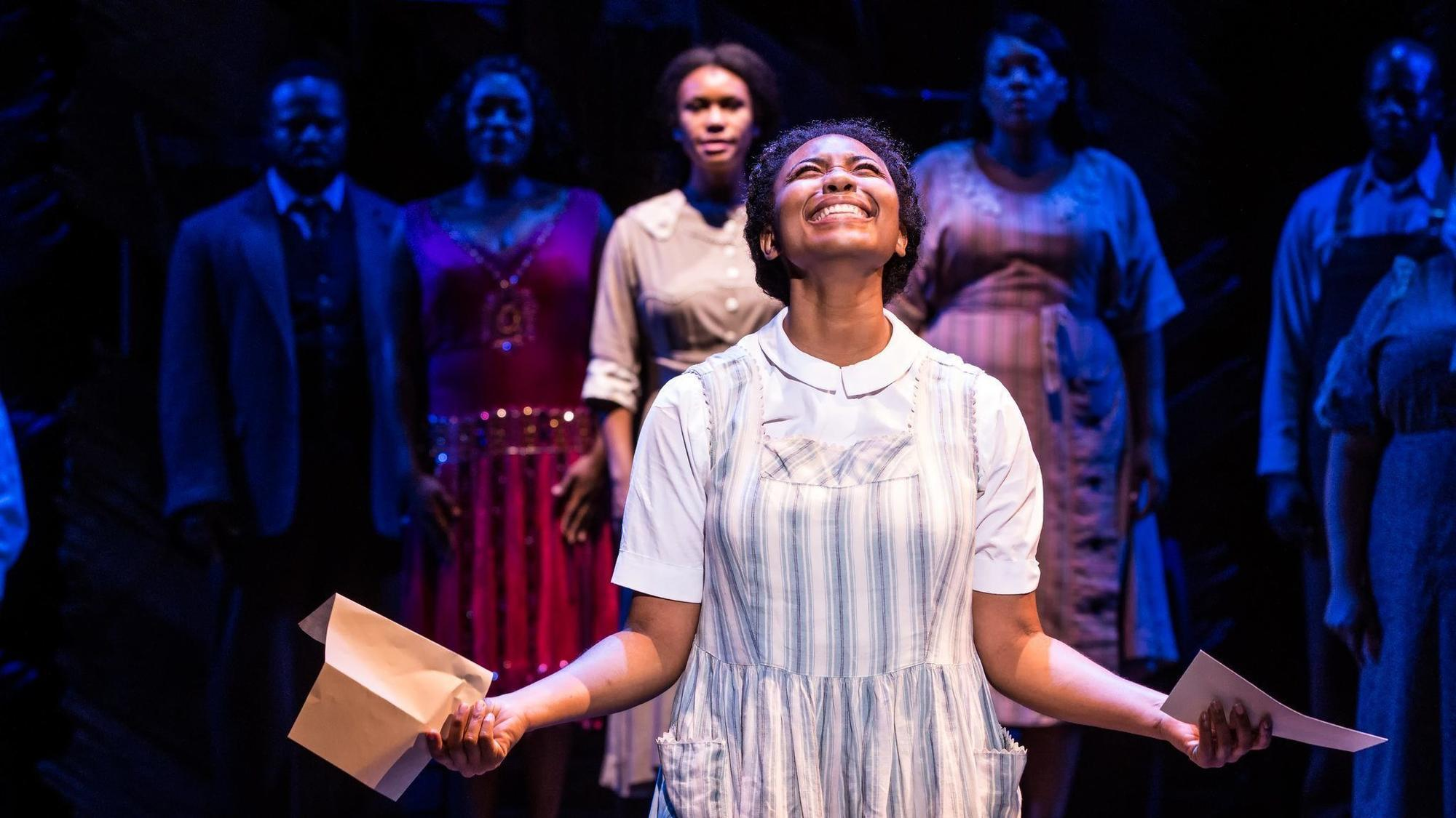 The Color Purple Review This Thrilling Revival Sings Straight To  The Color Purple Review This Thrilling Revival Sings Straight To Us In  The Audience At The Auditorium  Chicago Tribune Essay On Library In English also Science Fair Essay  C Assignment Help