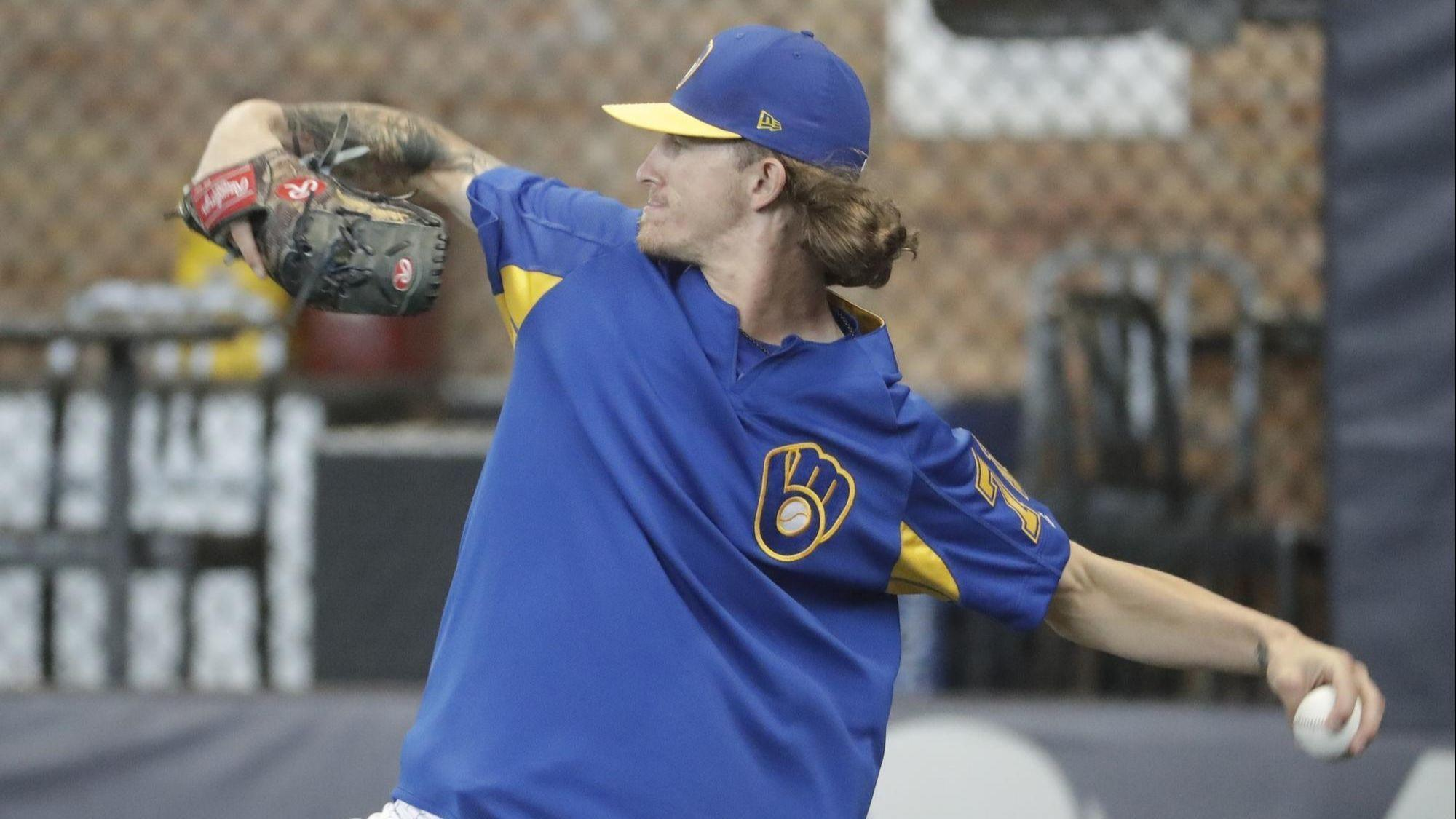 5be7b4565 Brewers  Josh Hader apologizes to teammates for racist tweets - Chicago  Tribune