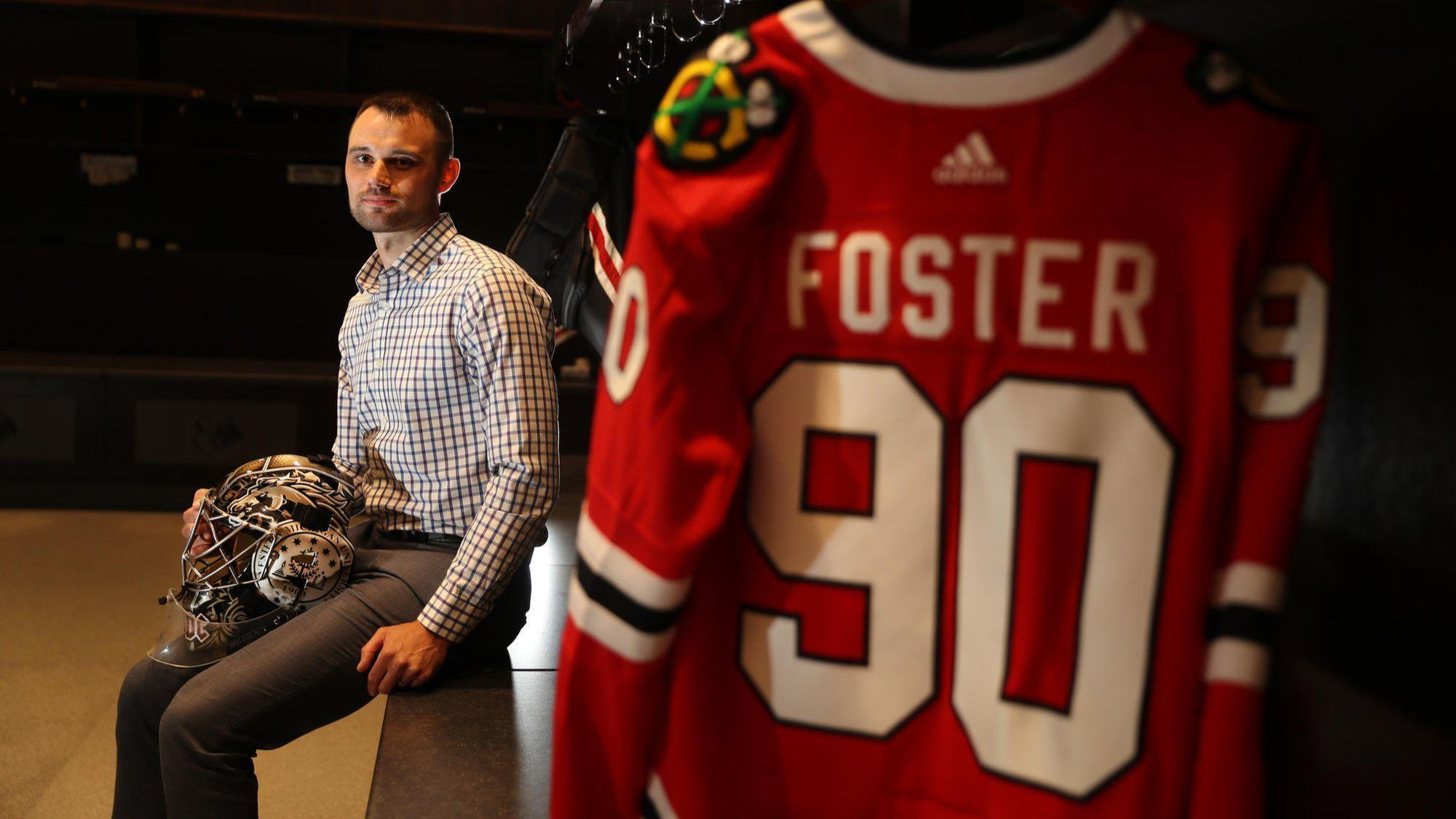 Scott Foster — accountant who for one night starred in goal for the  Blackhawks — opens up for first time about his  unbelievable moment  83baf8b8c64