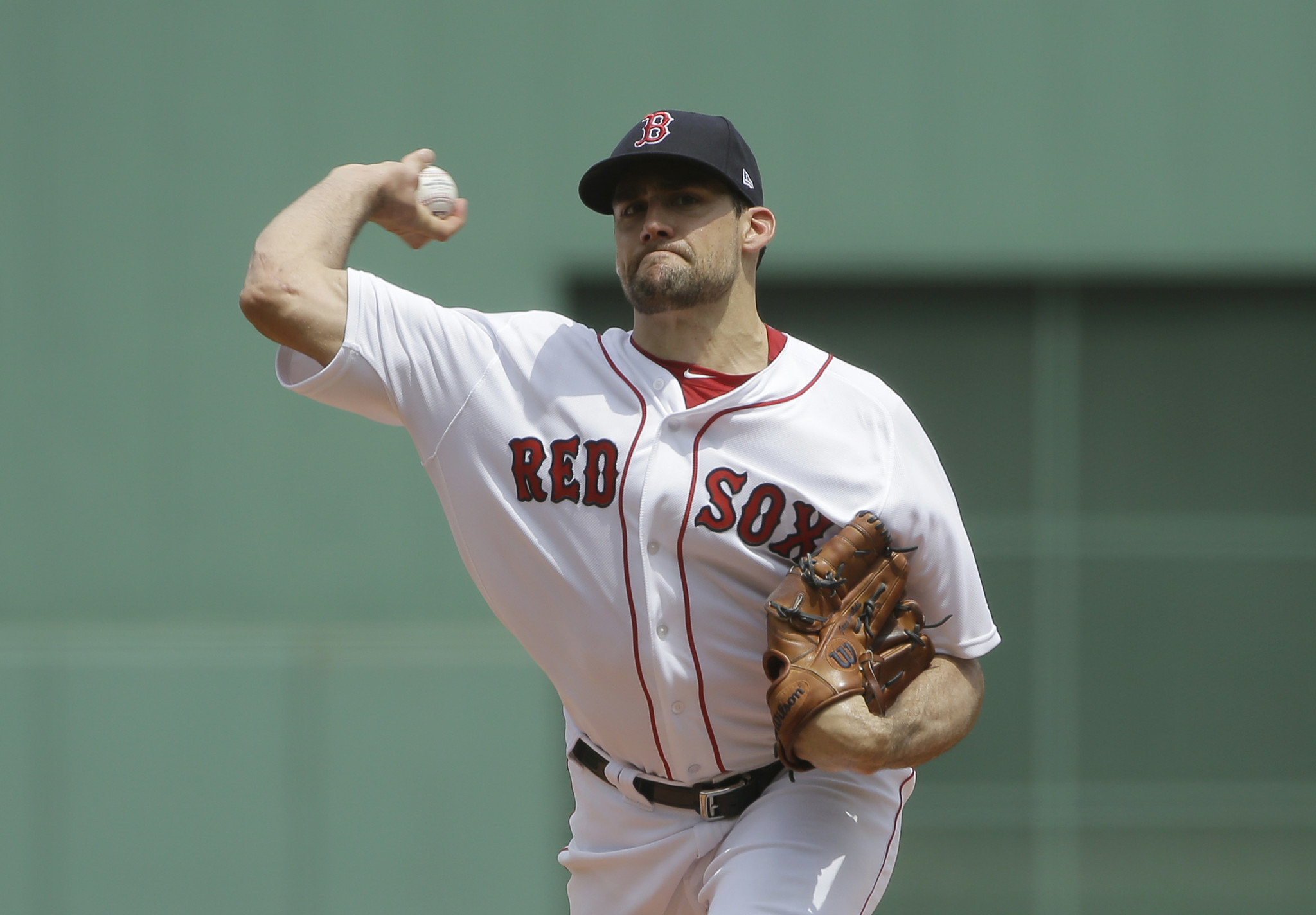 hot sale online a54aa 1514f Nathan Eovaldi sharp in debut as Red Sox blank Twins ...