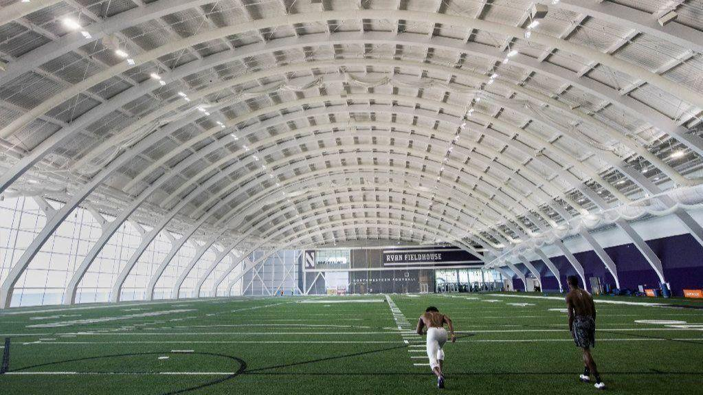 Northwestern Athletics Center Structural Drama Uplifts A