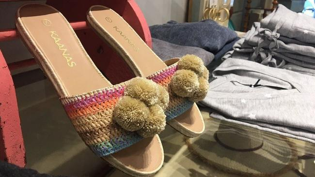 8ac0fa7b7 Espadrille-inspired sandals by Kaanas are on sale at Vintage Charm in  Hinsdale.