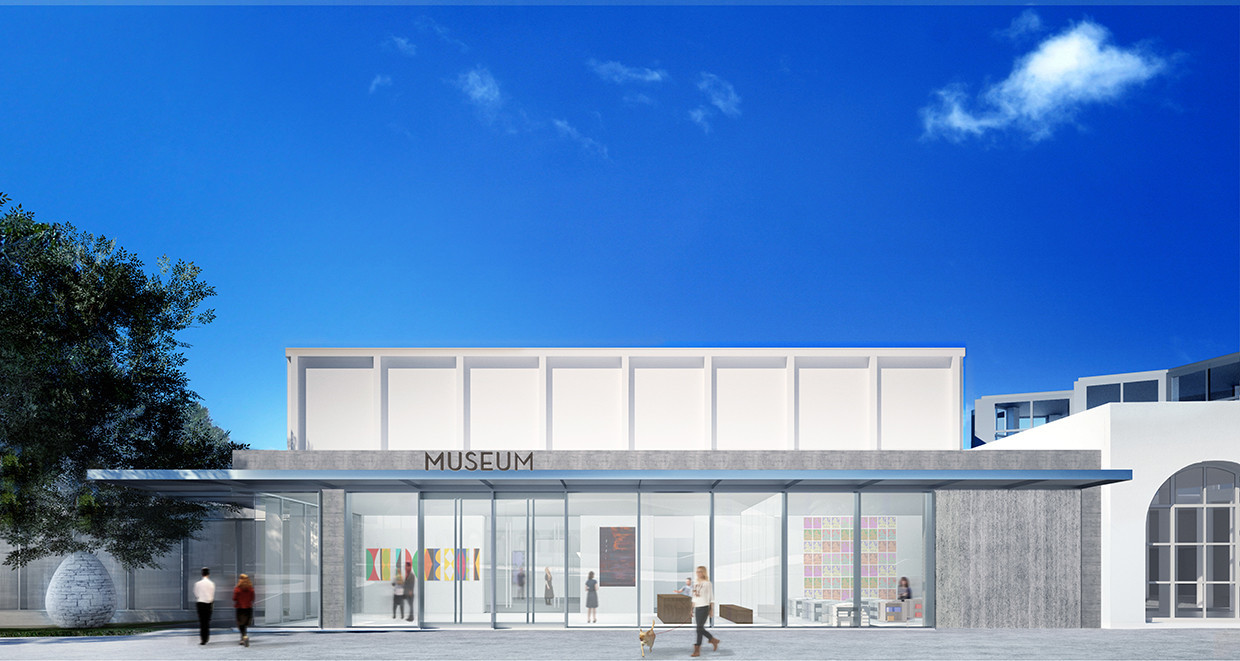 The museum's new lobby is drawing the ire of some critics.