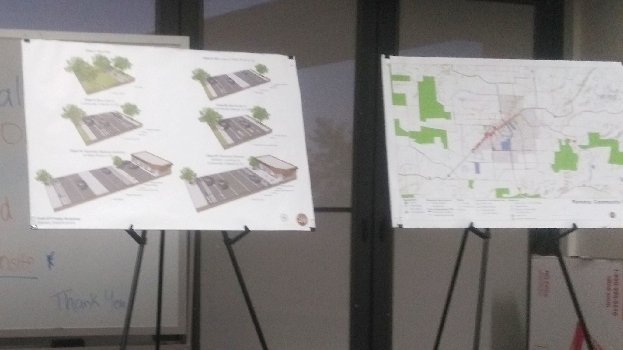 San Diego County staff present maps that show pedestrian and bicycle routes proposed in a Draft Active Transportation Plan.