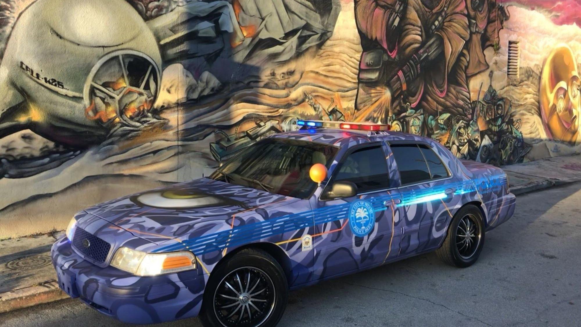 Graffiti Artist Gives Miami Police Car A Hip Wynwood