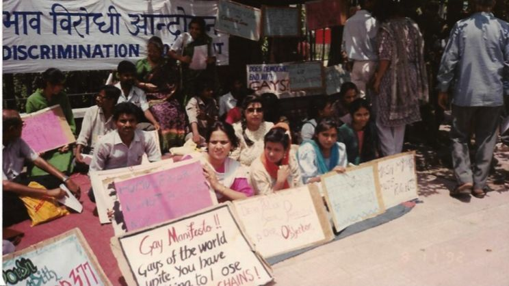 India gay rights demonstration