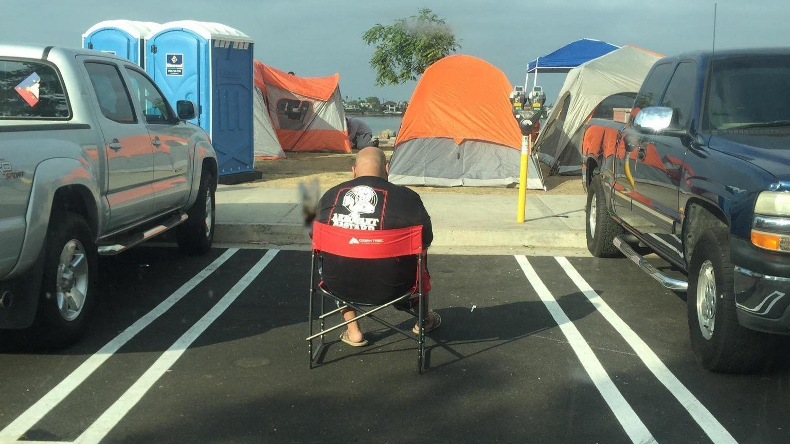 Saving a parking spot