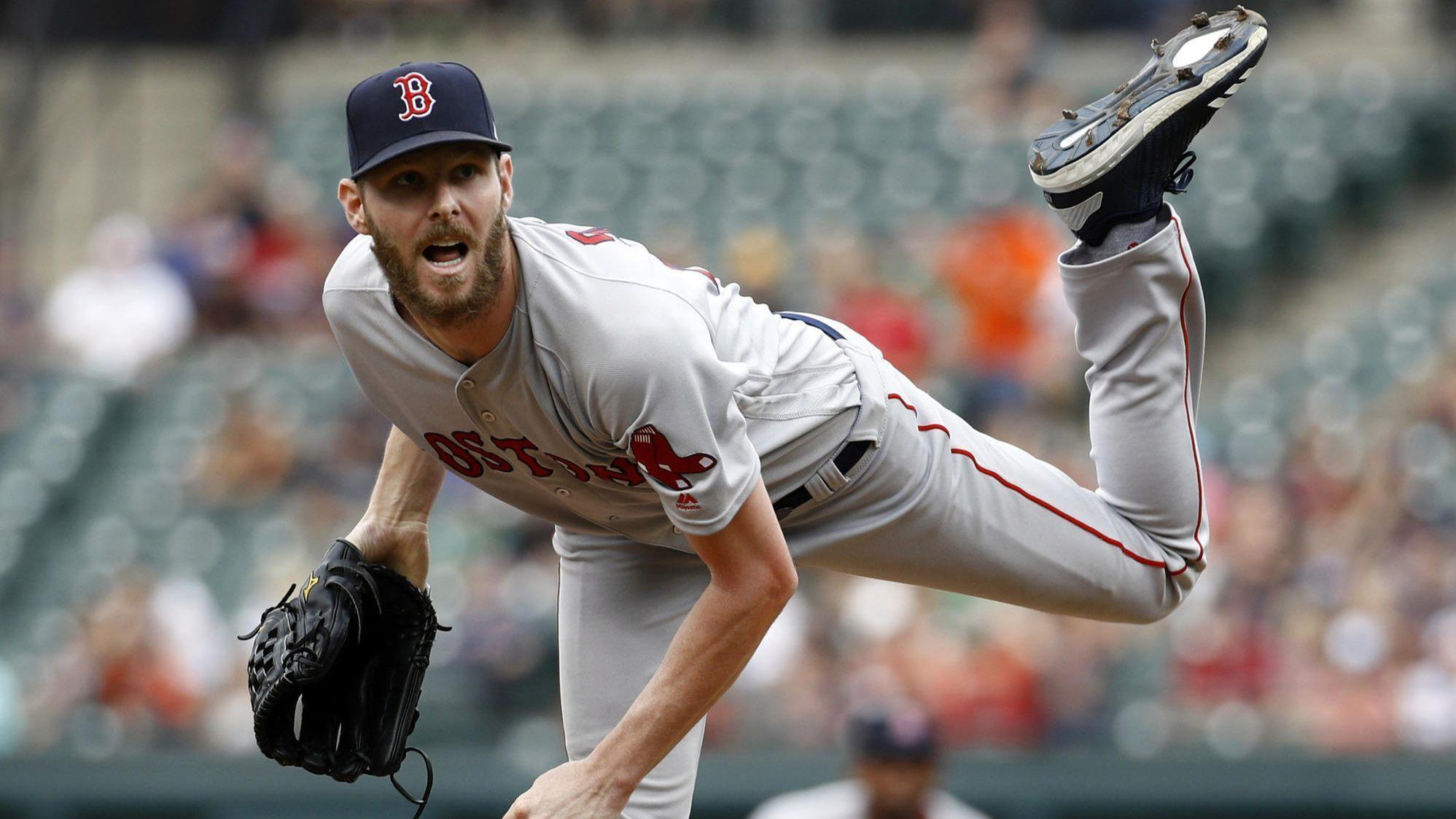 e35770b0ebb Chris Sale overpowers Orioles to help Red Sox complete four-game sweep with  4-1 win