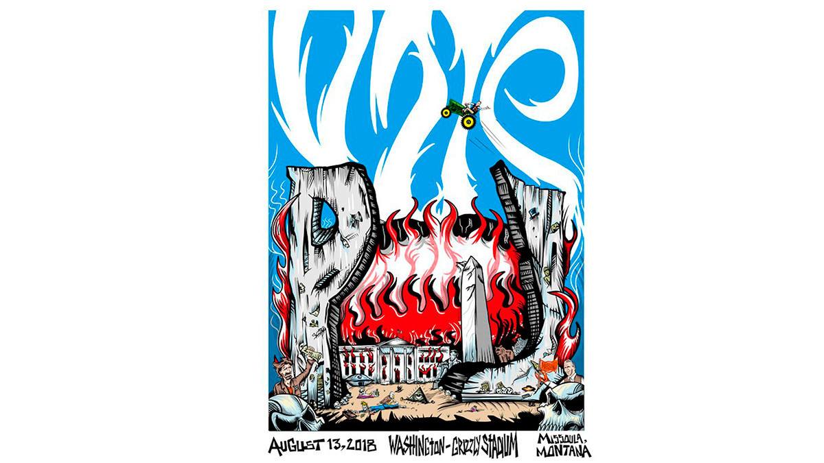 republicans blast pearl jam poster of burning white house chicago