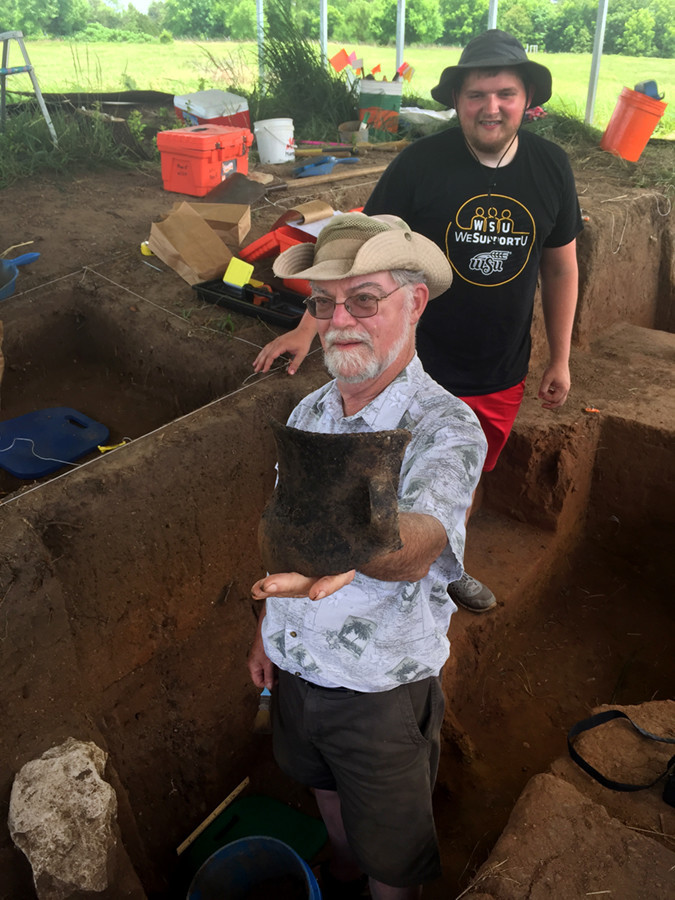 Excavation in Arkansas City, Kan.