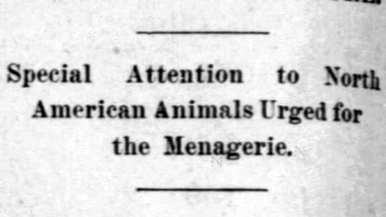 Investigation: Lincoln Park should focus on native animals, 1900