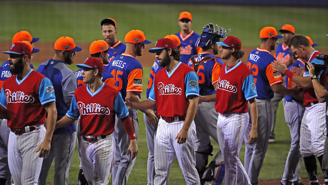 faa9cb182 PICTURES  Phillies fall to Mets at Little League Classic