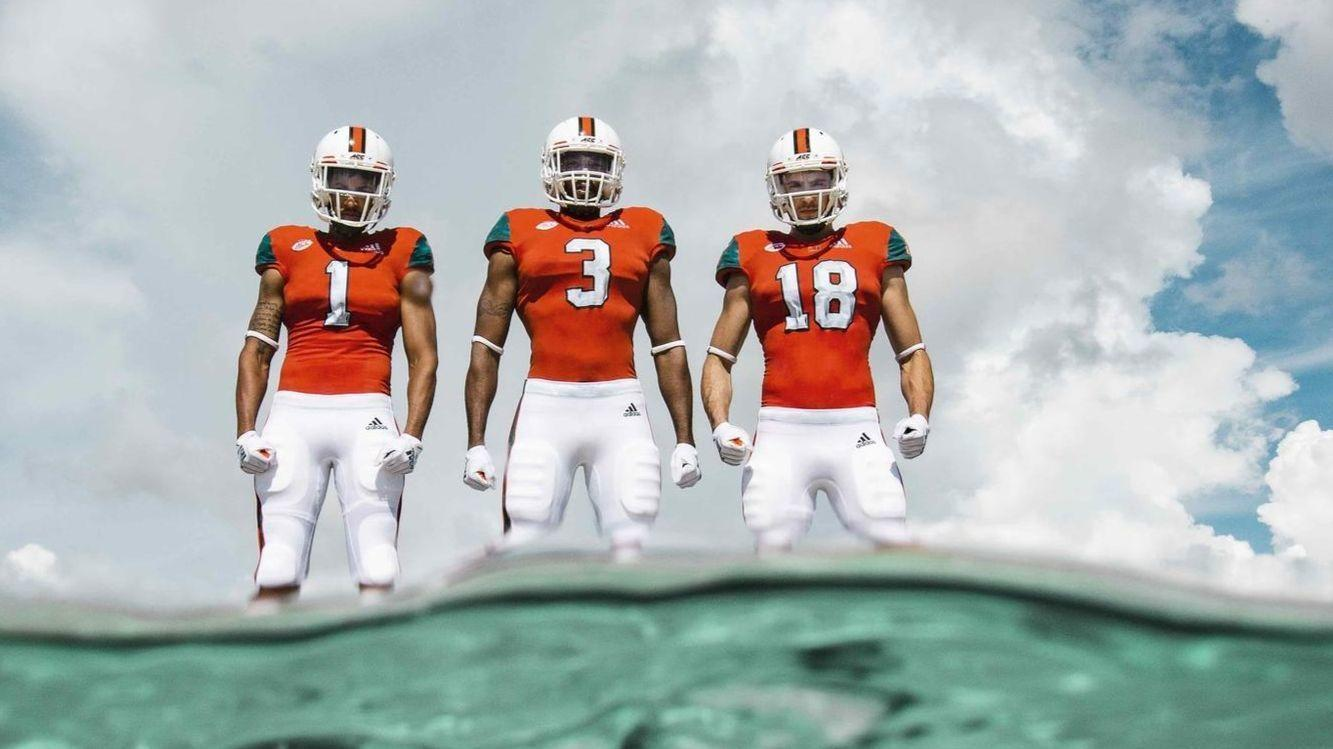 Miami Hurricanes to wear uniforms made from marine plastic waste in opener  against LSU - Sun Sentinel bb67ac80f