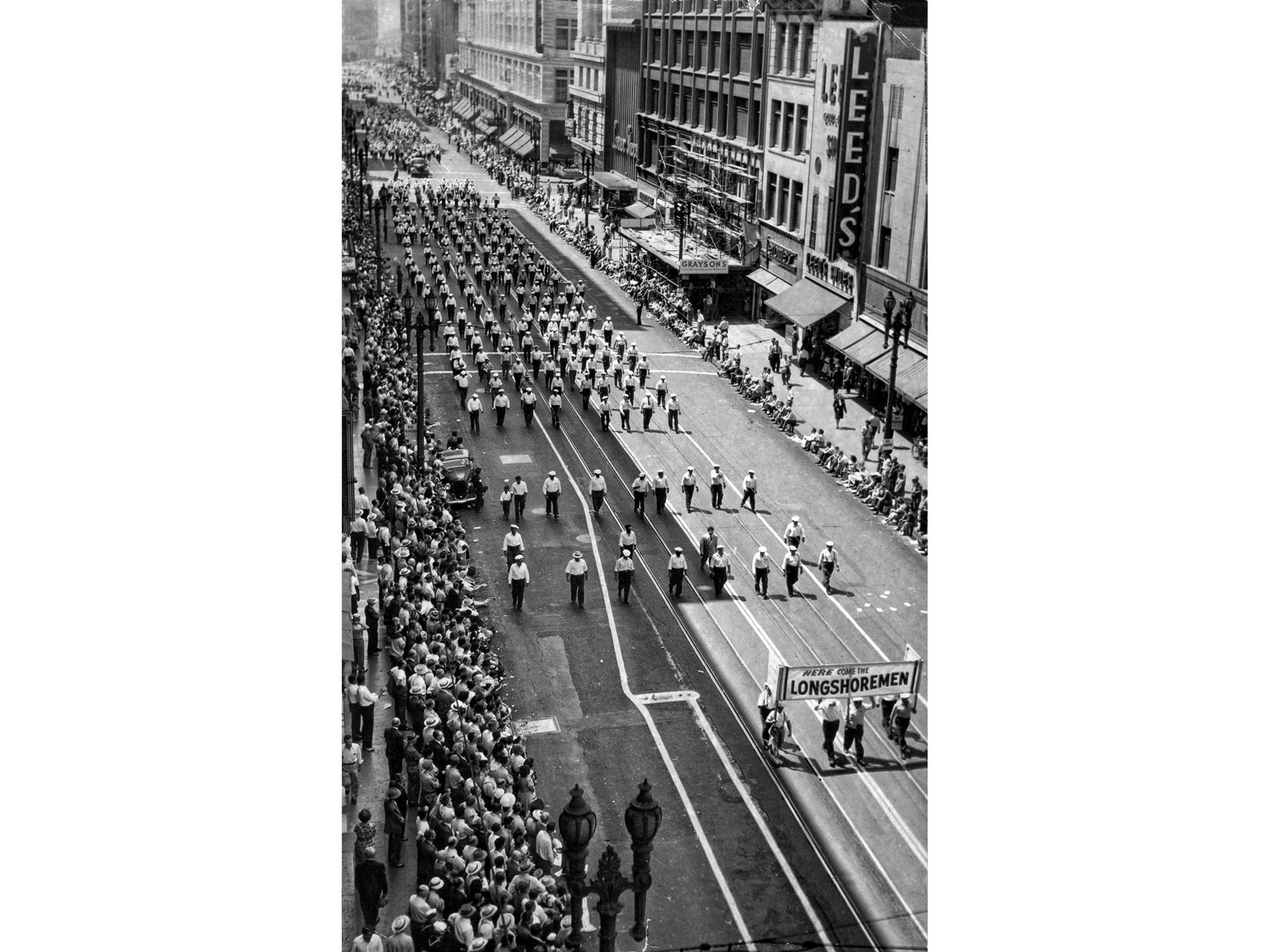 Sep. 1, 1947: The Longshoremen are one of the largest groups in the C.I.O. Labor Day parade proceedi