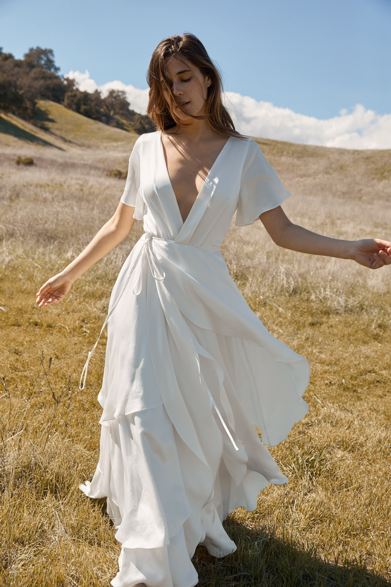 Here's the Athena dress ($1,800) from Christy Dawn's bridal collection.