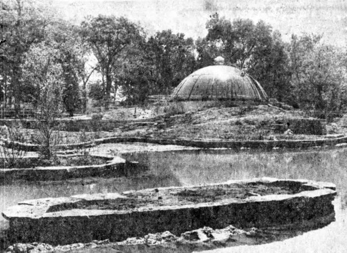 Waterfowl pond and flamingo dome, 1978