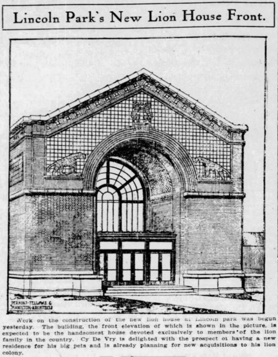 Rendering of Lion House, 1911