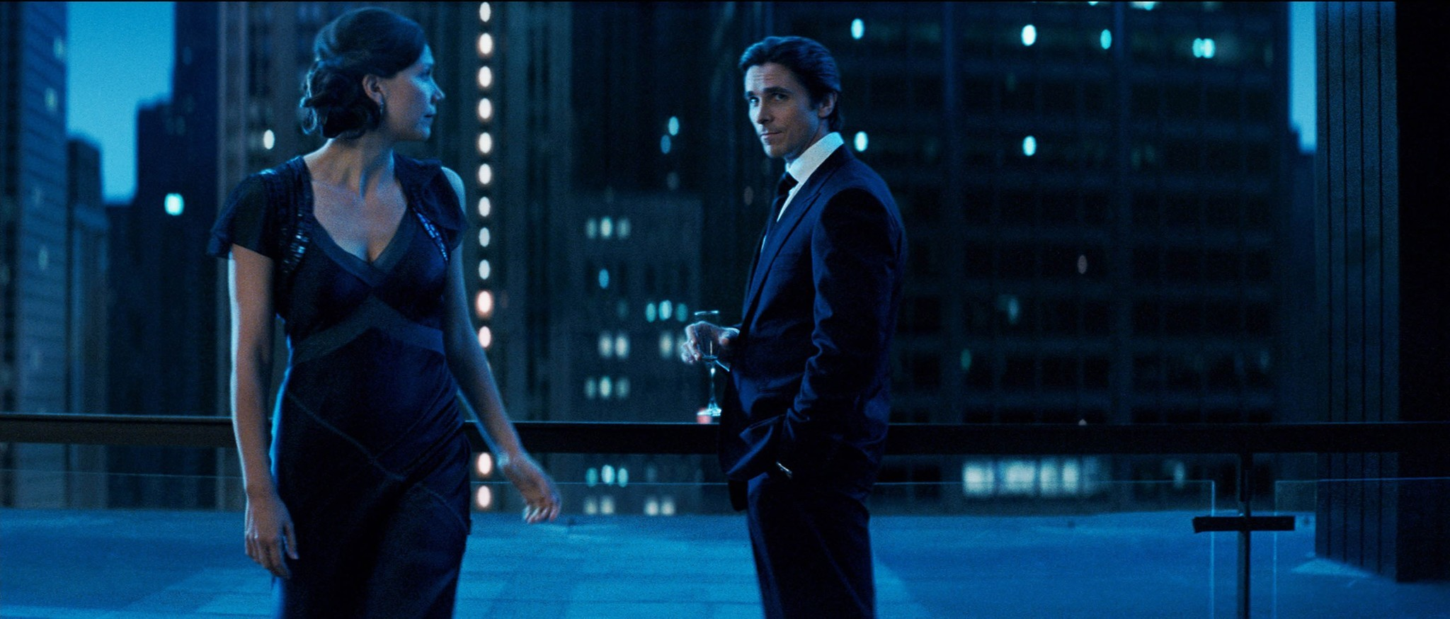 "Maggie Gyllenhaal and Christian Bale in ""The Dark Knight."""