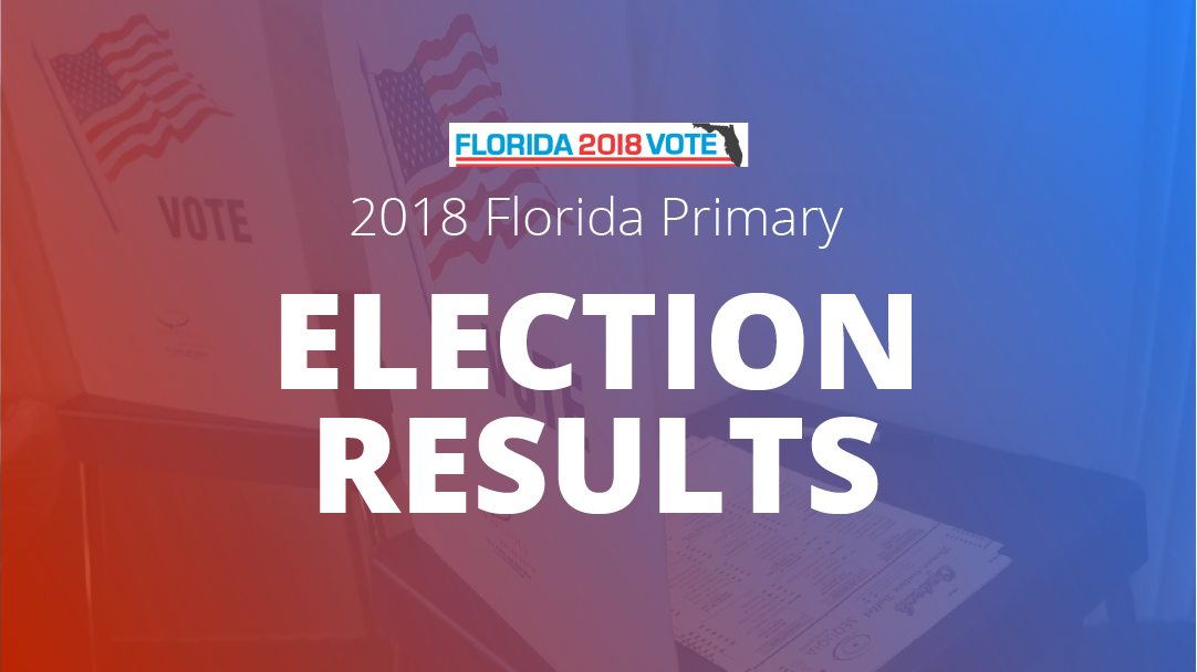 Map Of Florida Election Results.2018 Florida Primary Election Results Map Orlando Sentinel