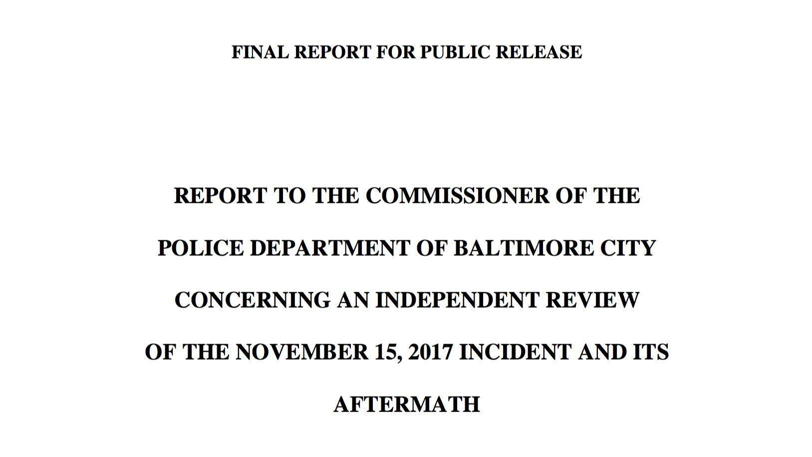 final report of police