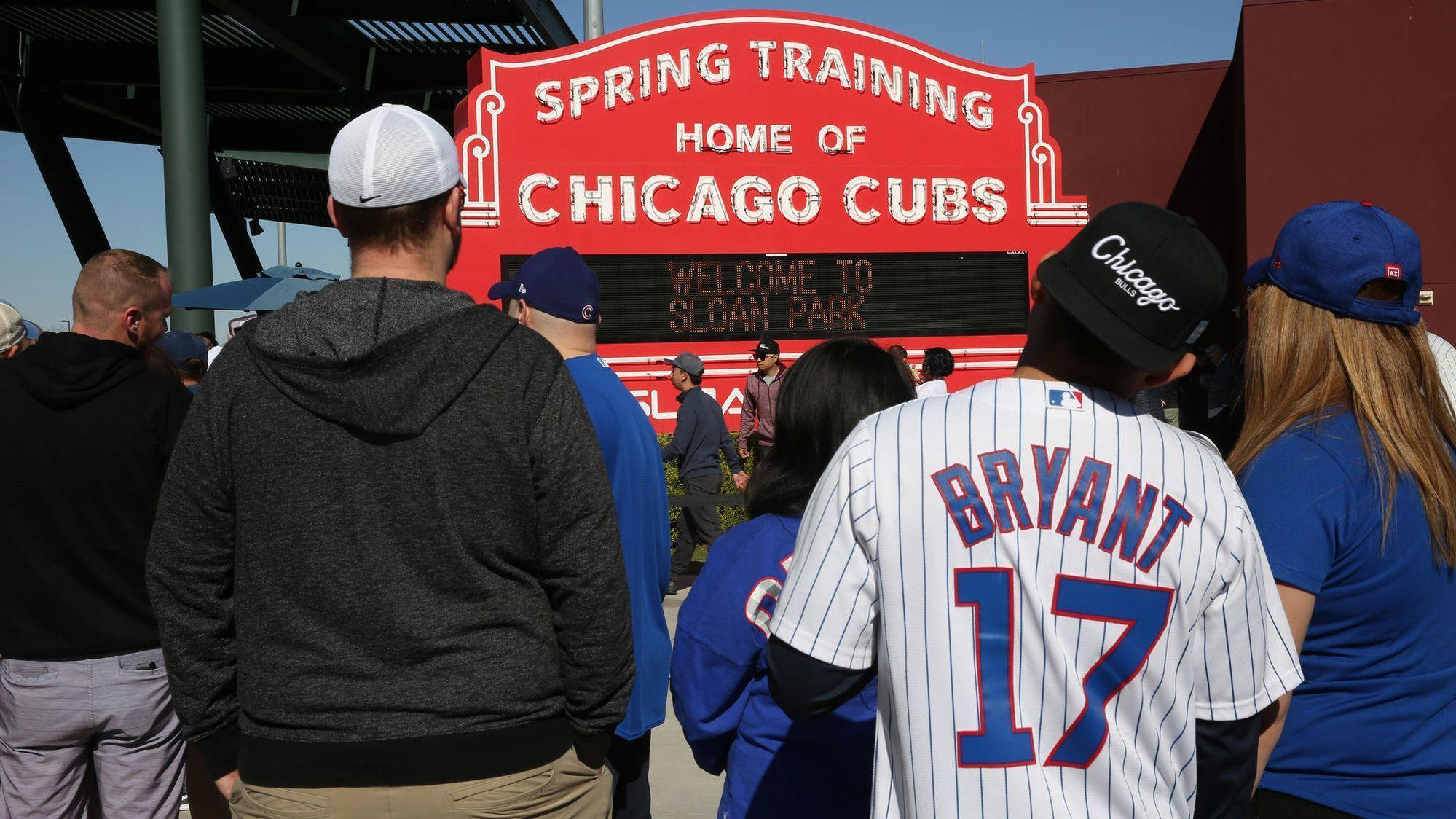 Cubs Announce 2019 Spring Training Schedule Chicago Tribune
