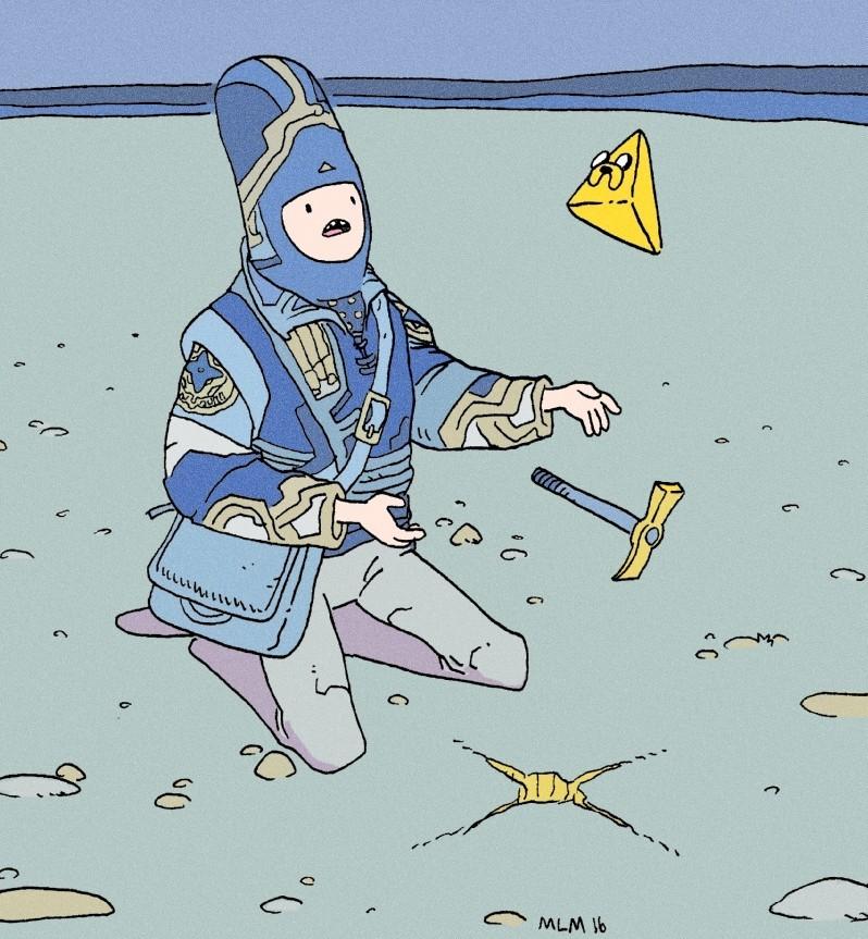 Moebius adn Adventure Time.