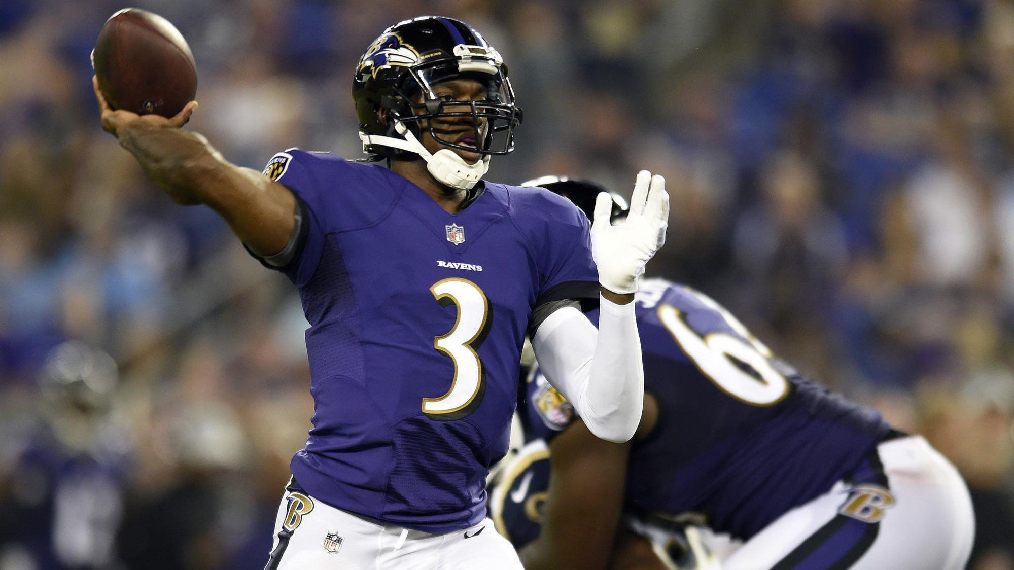 ravens keep robert griffin iii cut breshad perriman as they trim