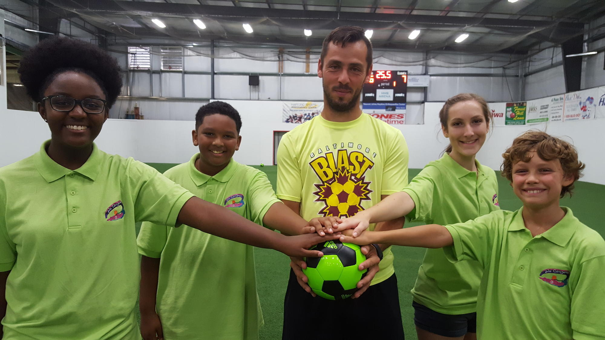 """Baltimore Blast players Vanzela, Saunders join """"Goals for"""