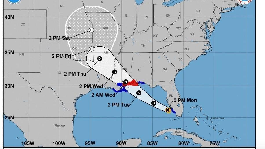Los Cayos Florida Map.La Tormenta Tropical Gordon Viaja Al Oeste De Fort Myers