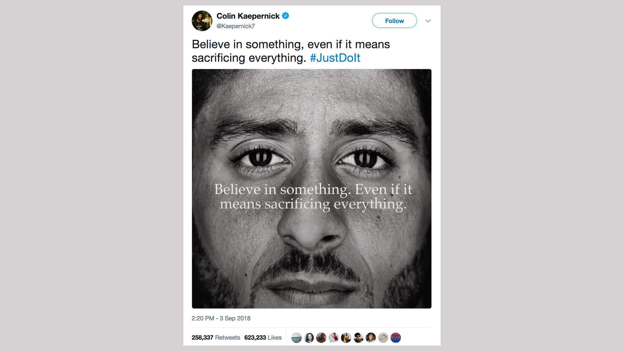8cb04d55ff675 The psychology behind boycott or support for Nike s Kaepernick campaign. Colin  Kaepernick