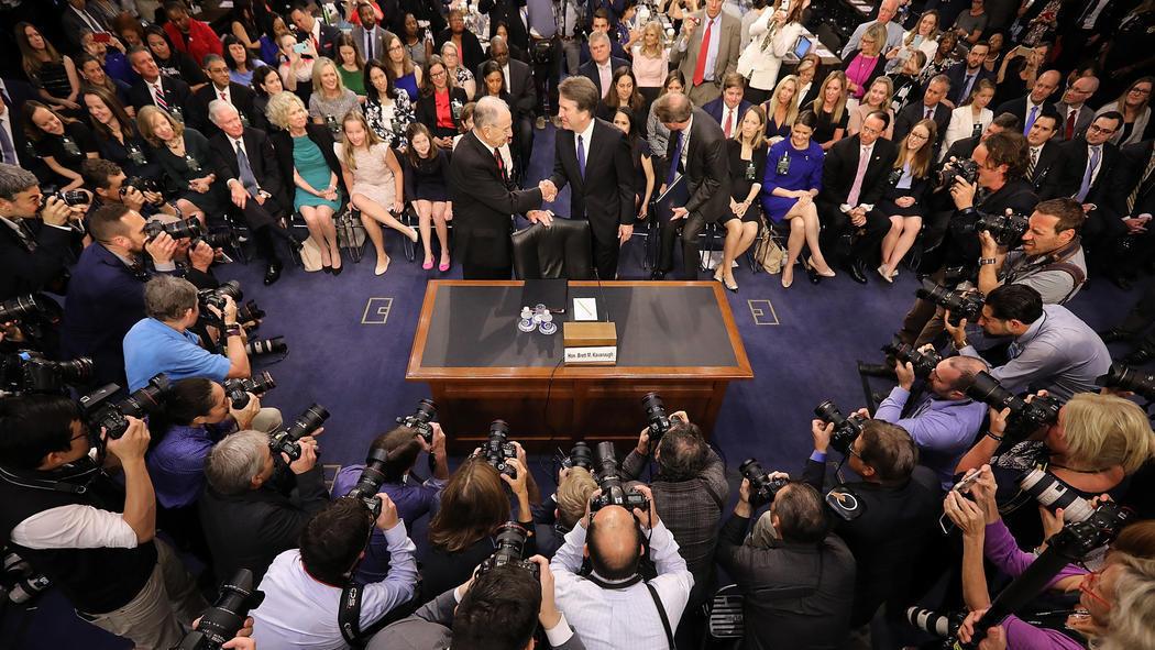 Chaos marks start of Kavanaugh Senate hearing as Dems call ...