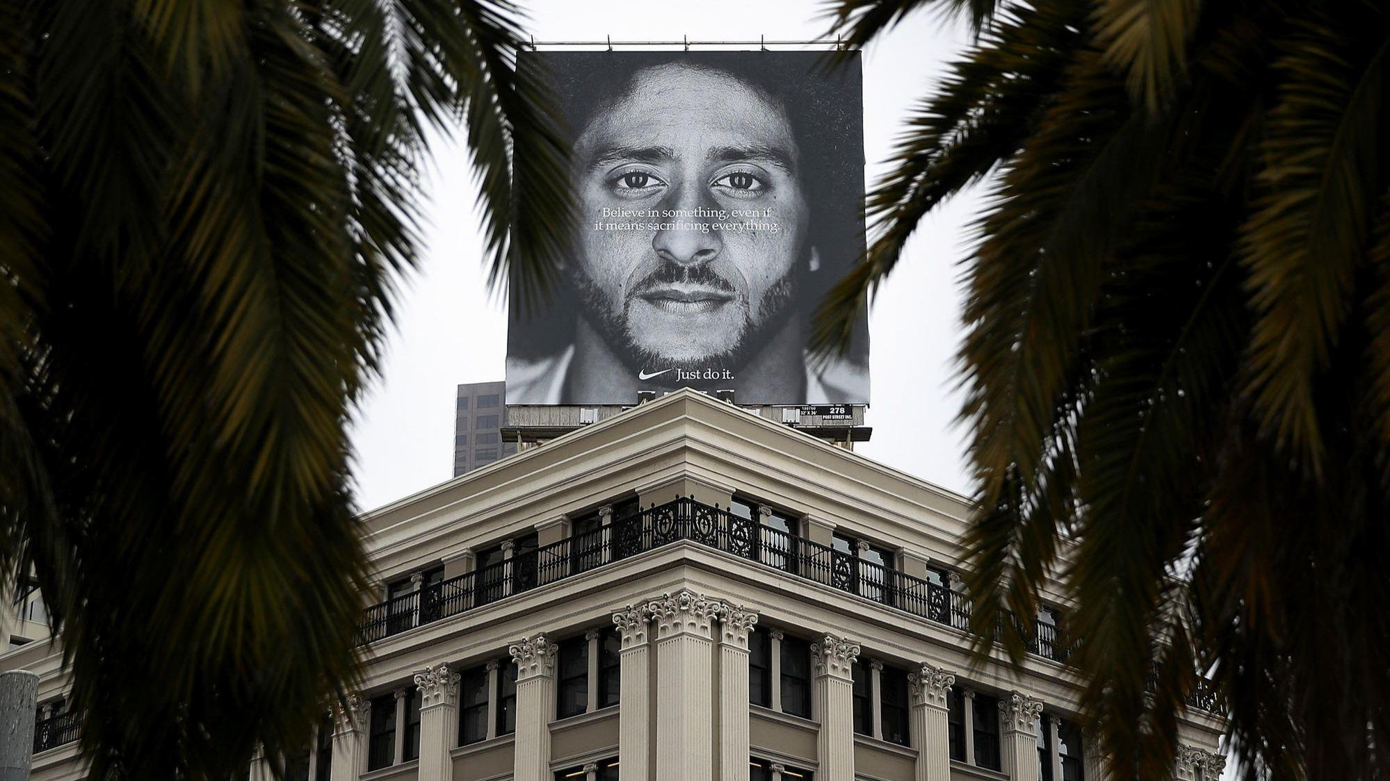 new style 30f5a 2b381 Nike ad wedges Colin Kaepernick back into the NFL, but money muddles the  message