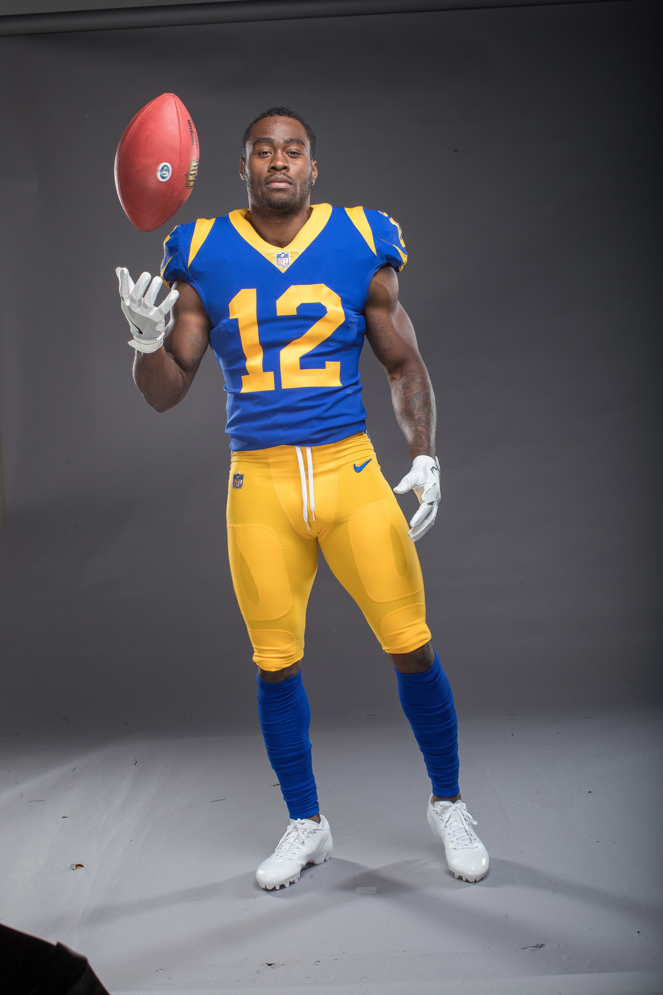 Portrait of Rams receiver Brandin Cooks.