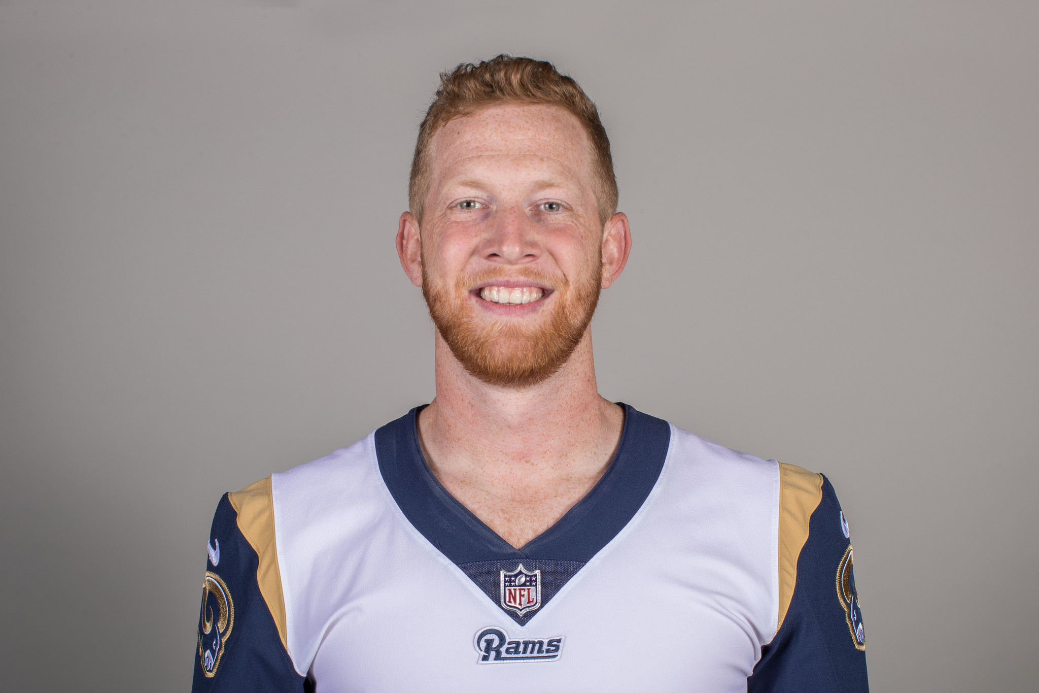 Headshot of punter (6) Johnny Hekker of the Los Angeles Rams, Thursday, June 11, 2018, in Thousand O