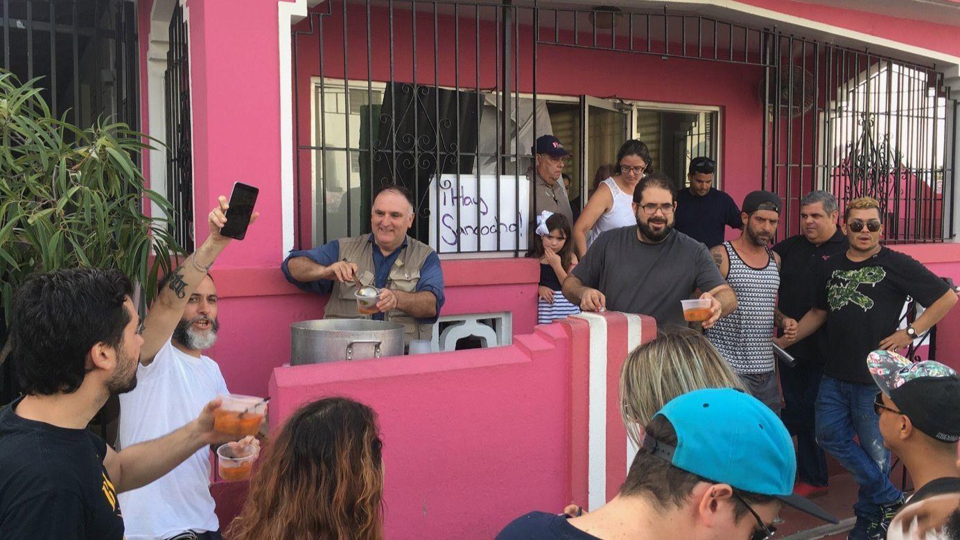 José Andrés serving up food in Puerto Rico after Hurricane Maria.